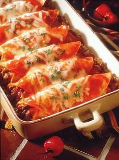Rindfleisch beef enchiladas